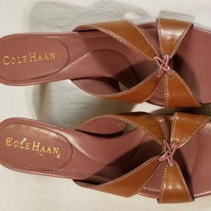 Cole Haan  7b Heels Brown/Pink